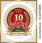 10 Years Anniversary Card With...