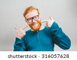 portrait of handsome man at his ... | Shutterstock . vector #316057628