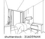 outline sketch drawing... | Shutterstock .eps vector #316059644
