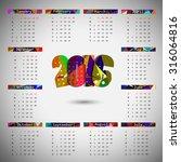 2016 calendar design. calendar...   Shutterstock .eps vector #316064816