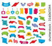 web stickers  banners and... | Shutterstock .eps vector #316065344