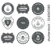 vintage emblems  labels. kosher ... | Shutterstock .eps vector #316065380