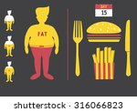 fat man with junk food loss...   Shutterstock .eps vector #316066823