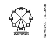 adventureland icon with black... | Shutterstock .eps vector #316068638