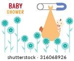 baby shower design. vector...   Shutterstock .eps vector #316068926