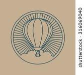 Round Logo Icon. Air Transport...