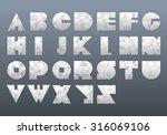 vector alphabet set. font with... | Shutterstock .eps vector #316069106