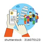 flat contour illustration of... | Shutterstock .eps vector #316070123