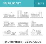 set of vector line flat design...   Shutterstock .eps vector #316073303