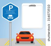car with parking sign  icon and ... | Shutterstock .eps vector #316073510