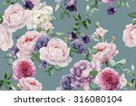 seamless floral pattern with... | Shutterstock . vector #316080104