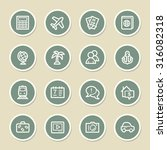 travel web icons set | Shutterstock .eps vector #316082318
