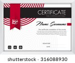 certificate template with... | Shutterstock .eps vector #316088930