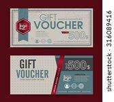 gift voucher template with... | Shutterstock .eps vector #316089416