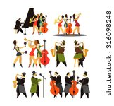abstract jazz band  jazz music... | Shutterstock .eps vector #316098248