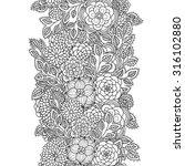 vector doodle flowers seamless... | Shutterstock .eps vector #316102880