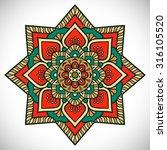 mandala. vintage decorative... | Shutterstock .eps vector #316105520