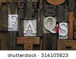 faqs abbreviation made from... | Shutterstock . vector #316105823