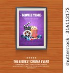 realistic cinema poster in a... | Shutterstock .eps vector #316113173