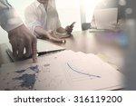 double exposure of businessman... | Shutterstock . vector #316119200