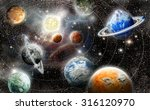 alien planet star system in... | Shutterstock . vector #316120970