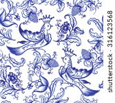 vector floral watercolor... | Shutterstock .eps vector #316123568