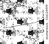 loudspeaker pattern  grunge ...