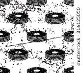 cd stack pattern  grunge  black ...