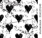 hearts pattern grunge  black...