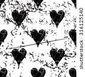 hearts pattern grunge  black...