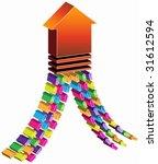 union arrow   merge of many... | Shutterstock .eps vector #31612594