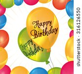 happy birthday concept with... | Shutterstock .eps vector #316126550