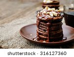 Chocolate Pancake With Bananas...