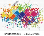 abstract background with color... | Shutterstock .eps vector #316128908