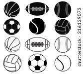 american football ball ... | Shutterstock .eps vector #316129073