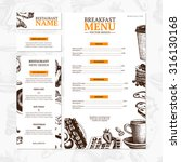 breakfast menu template. cafe... | Shutterstock .eps vector #316130168