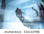 businessman hand working with... | Shutterstock . vector #316132988