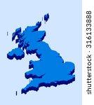 united kingdom of great britain ... | Shutterstock .eps vector #316133888