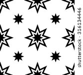 monochrome geometric seamless... | Shutterstock .eps vector #316134446