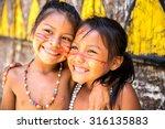 Cute Brazilian Indians Paying...