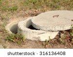 Exposed Concrete Manhole