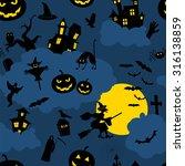 halloween seamless patterns....   Shutterstock .eps vector #316138859