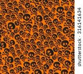 cute black skulls and... | Shutterstock .eps vector #316141634