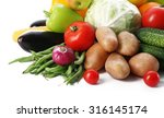 fresh vegetables and fruits ... | Shutterstock . vector #316145174