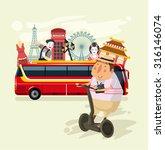 Vector Tourism Flat Illustration