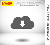 cloud computing download icon.... | Shutterstock .eps vector #316147460