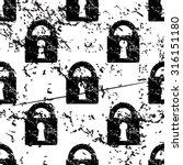 locked padlock pattern  grunge  ...