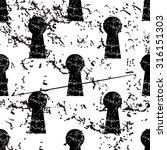 keyhole pattern  grunge  black...