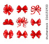 red bows detailed photo... | Shutterstock .eps vector #316151933