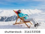view of woman resting on chair...   Shutterstock . vector #316153508
